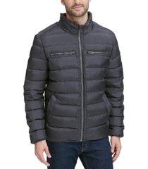 cole haan men's quilted zip-front jacket