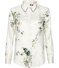 bluzka w japońskie kwiaty