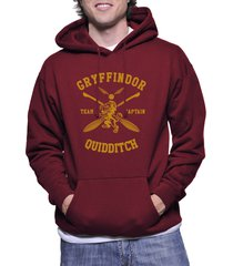 captain - new gryffindor quidditch team captain y ink pullover hoodie maroon
