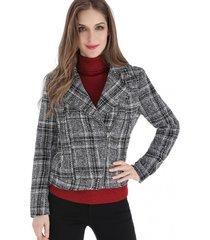 chaqueta cropped tweed gris nicopoly