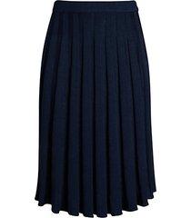 pleated wool-blend skirt