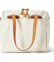 filson rugged twill tote bag with zipper - natural 20112028