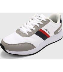 tenis lifestyle blanco-gris-negro-rojo nautica aport-2
