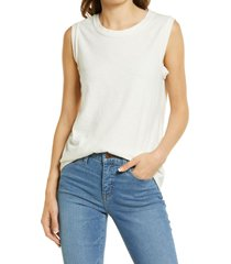 madewell muscle tank, size xx-small in antique cream at nordstrom