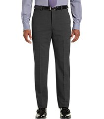 awearness kenneth cole awear-tech charcoal gray slim fit dress pants