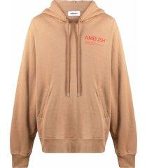 ambush camel brown cotton hoodie