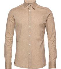 polo shirt - long sleeved overhemd business beige eton