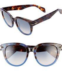 women's rag & bone 54mm cat eye sunglasses - blue havana