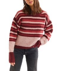 allison new york women's cable knit pullover