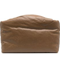 kassl editions padded canvas clutch - brown