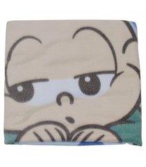 cobertor flanelado bebê menino turma da mônica cebolinha azul