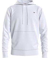 tommy hilfiger dm0dm09593 reg. fleece hoodie ybr white jeans
