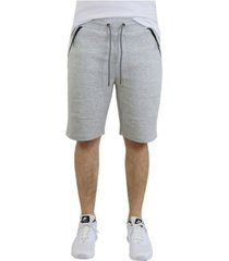 verde men's cotton blend tech fleece shorts with zipper pockets