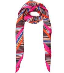 'twill seta' stripe silk scarf