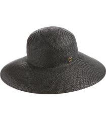 eric javits 'hampton' straw sun hat in black at nordstrom