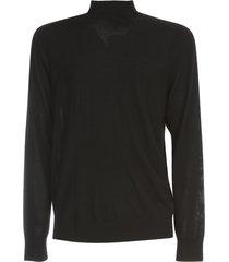 theory high neck merino sweater w/ saddle sleeves