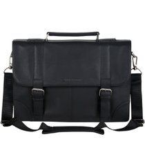 "ben sherman karino leather flap-over 15"" computer case"