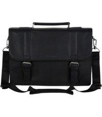 "ben sherman karino leather flap-over 15"" computer case"