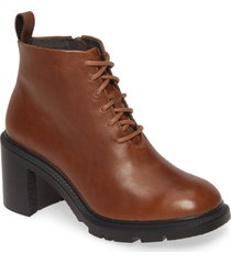 women's camper wonder lace-up bootie, size 9us - brown