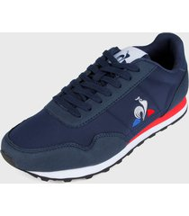 tenis lifestyle azul oscuro-rojo-blanco le coq sportif astra sport