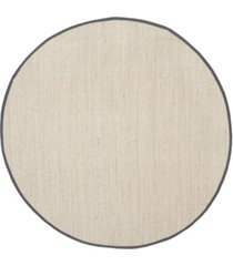safavieh natural fiber marble and dark gray 8' x 8' sisal weave round area rug