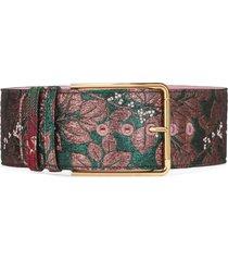 dolce & gabbana floral-jacquard belt - pink