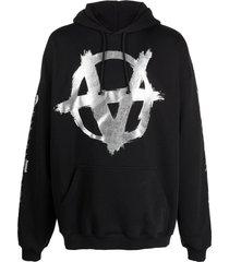 vetements double anarchy logo-print hoodie