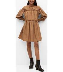 organic cotton puffed dress