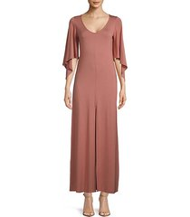 marielle bell-sleeve long dress