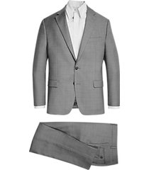 lauren by ralph lauren light gray sharkskin classic fit suit