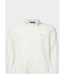 camisa corte slim verde tommy hilfiger