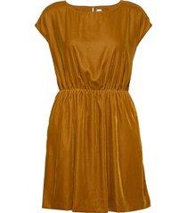 velvet skater dress kort klänning gul gap