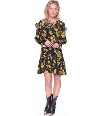 vanessa flower mini ruffle dress