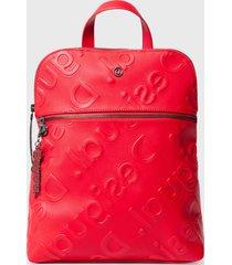 mochila nanaimo rojo desigual