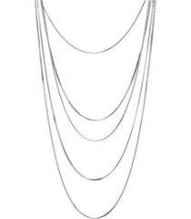 nicole miller multi-row cobra chain necklace