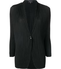 antonelli v-neck pleated blazer - black