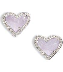 women's kendra scott ari heart stud earrings