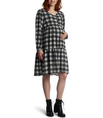 women's everly grey tara long sleeve maternity/nursing dress, size x-large - black