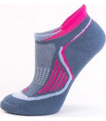 calcetín mujer meli sport azul chino fucsia lippi