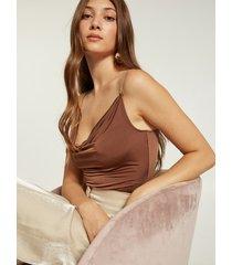 motivi body con spalline gioiello donna marrone