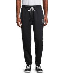 puma men's pivot terry jogger pants - black - size xl