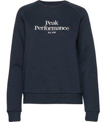 w original crew sweat-shirt tröja blå peak performance