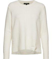 merino-blend center-seam sweater stickad tröja creme banana republic