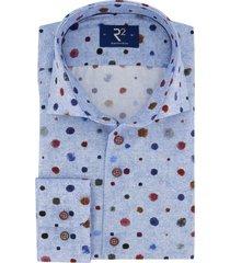 overhemd r2 amsterdam blauw motief