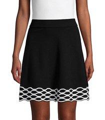 high-waist cotton-blend mini skirt