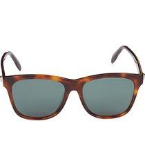 alexander mcqueen women's faux tortoiseshell 56mm square sunglasses - havana