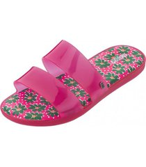 sandalia color pop casual fucsia melissa