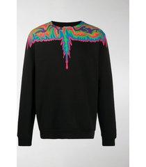 marcelo burlon county of milan psychedelic wings-print sweatshirt