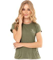 camiseta bloom verde ragged pf51120507