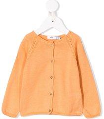 knot basic knitted cardigan - orange